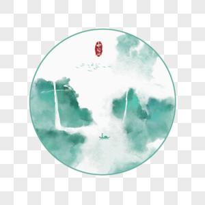 中国风水墨山水装饰画图片