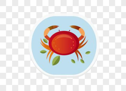 AI矢量图红色食物类元素螃蟹类元素图片