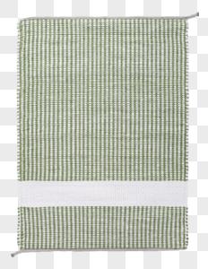 绿白格子毛巾图片