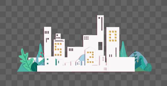 城市剪纸图片