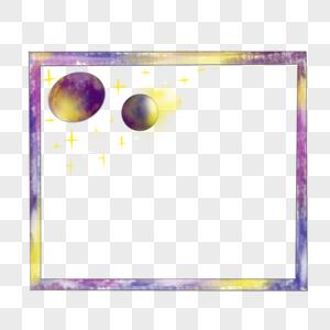 星球边框图片