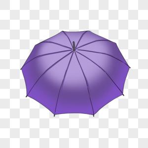 紫色雨伞图片