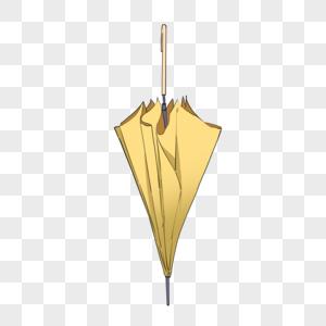 黄色长柄雨伞图片