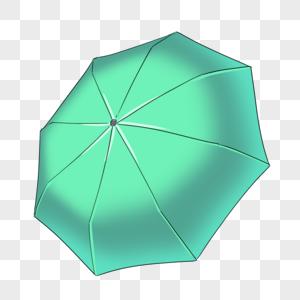 青色雨伞图片