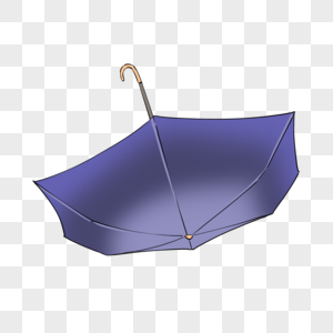 深蓝色雨伞图片