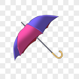 双色长柄雨伞图片