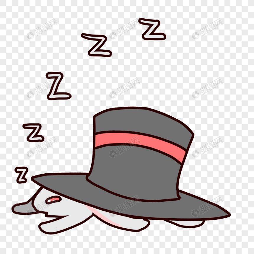 素材帽兔子睡觉卡通元素表情psd表情_v素材格式鸵鸟迷路包