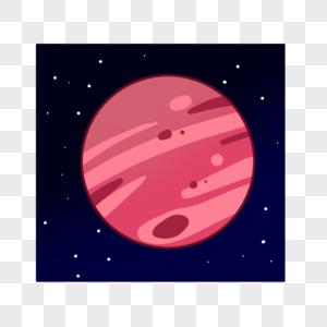 好看的红色星球图片