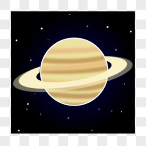 带光环的黄色星球图片