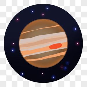 带红斑的星球图片