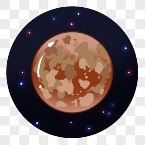 土黄色的行星图片