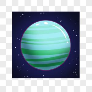 可爱的绿色星球图片