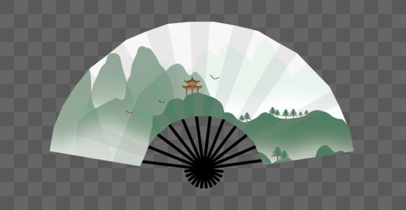 矢量中国风折扇图片
