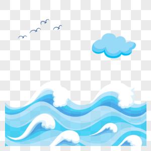 蓝色海洋波浪图片