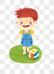 踢足球男孩图片