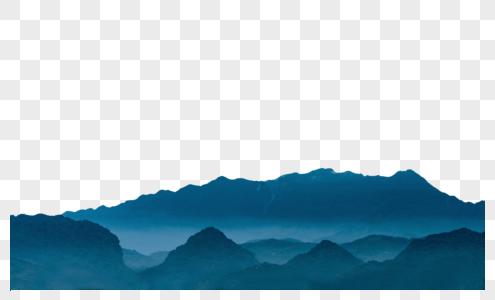 远山与雾霭图片