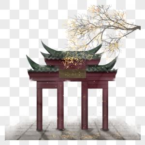 中国风水墨建筑图片