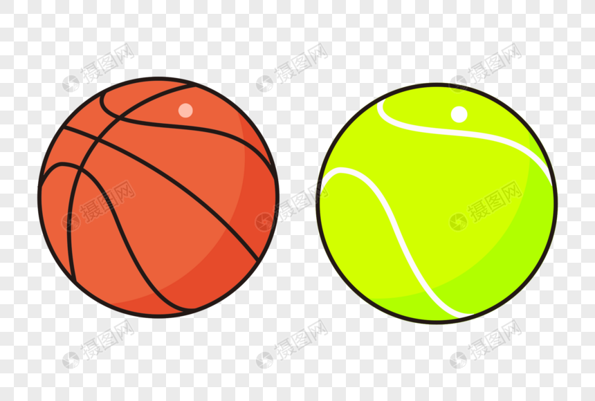 运动篮球网球图片