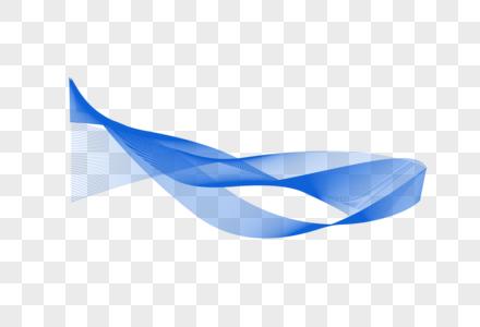 抽奖科技感蓝色几何线条图片