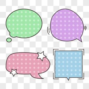 彩色波点气泡框图片