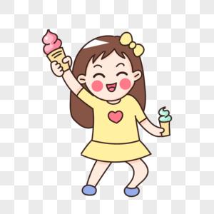 吃冰激凌图片