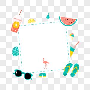 夏日矢量边框图片