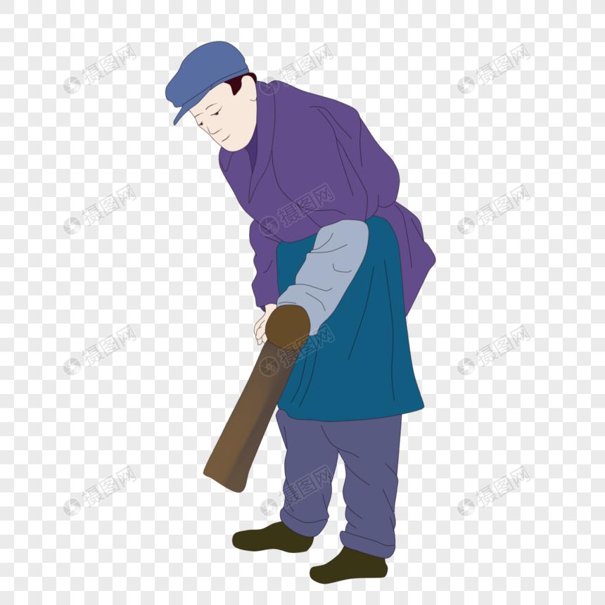 干农活的老人图片