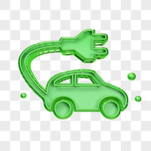 立体充电汽车图标图片