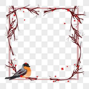 站在边框上的鸟儿图片