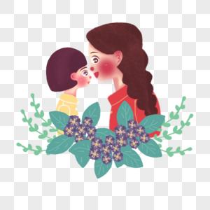 母亲节妈妈和女儿图片