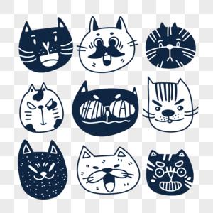 卡通猫咪头像图片