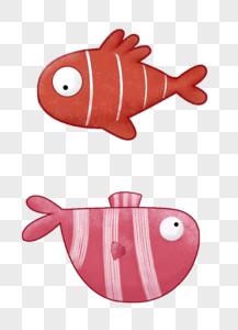 手绘小鱼图片