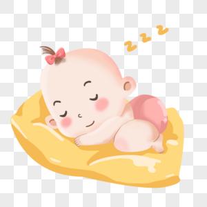 睡着的可爱小婴儿宝宝图片