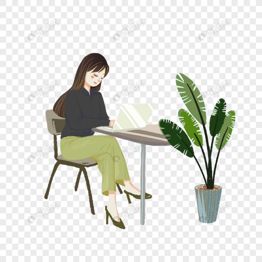工作的女性图片