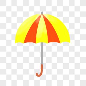 手绘卡通雨伞png免抠素材图片