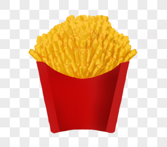 美国快餐薯条图片