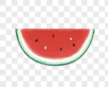 西瓜水彩图片