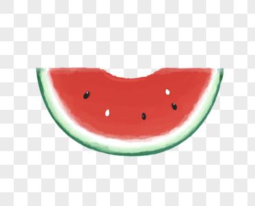 被咬的西瓜图片