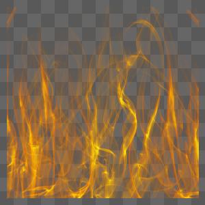 黄色火焰元素图片