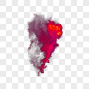红色火焰烟雾特效图片