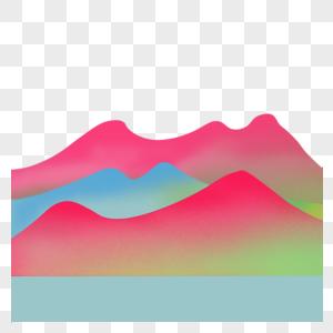 彩色渐变山丘图片