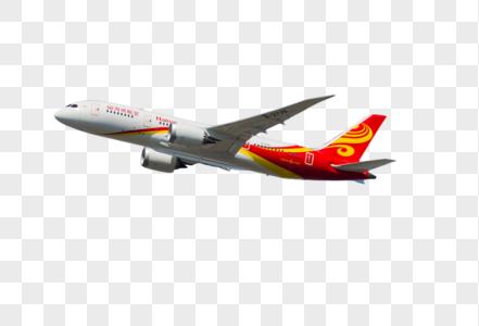白红相间的飞机图片