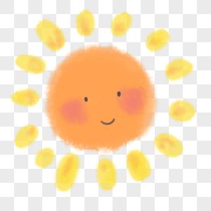夏季骄阳可爱的太阳图片