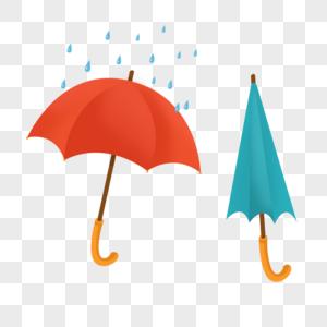 张开的雨伞 收起的雨伞图片