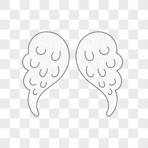 创意天使翅膀边框图片