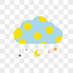 创意卡通云朵和美丽的流苏图片