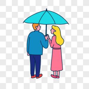 打伞情侣图片