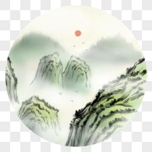 中国风高山景色图片