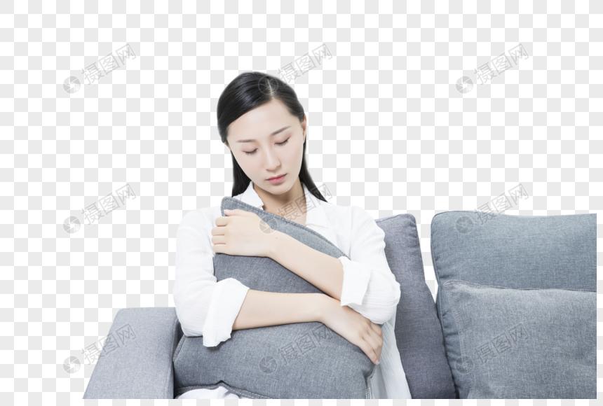居家女性劳累休息图片