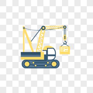 建筑工地吊车图片